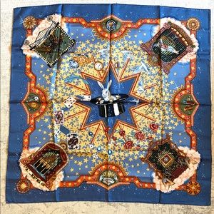 Hermes Blue La Magie Scarf - 36 inches